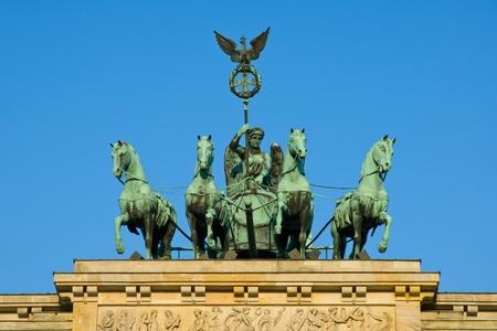 quadriga: Quadriga on the Brandenburger Tor Stock Photo