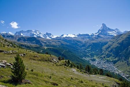 ricin: Zermatt Matterhorn, Castor et Pollux Banque d'images