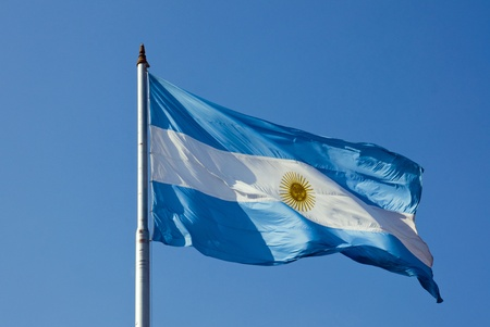 Argentinean flag Imagens - 10329595