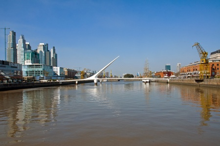 mujer: Puerto Madero in Buenos Aires, Argentina Stock Photo