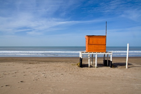 Lifeguard in Villa Gesell at the argentinean atlantic coast photo