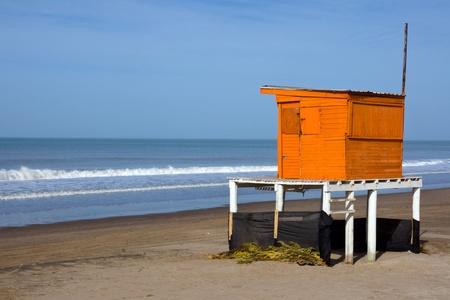 Lifeguard tower at the beach photo