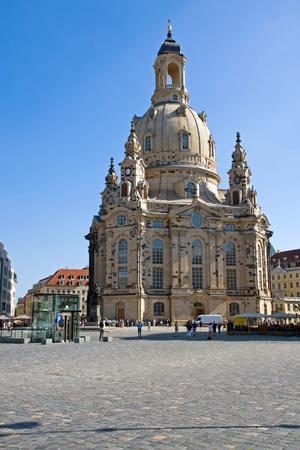 frauenkirche: Die ber�hmte Frauenkirche in Dresden, Deutschland Editorial