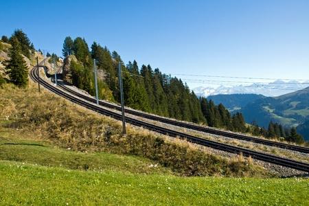 railtrack: Railroad tracks in the mountains