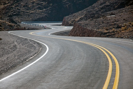 Twisting road in northern Argentina photo