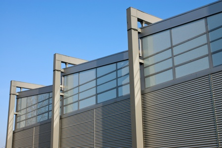 Facade of a modern factory building photo