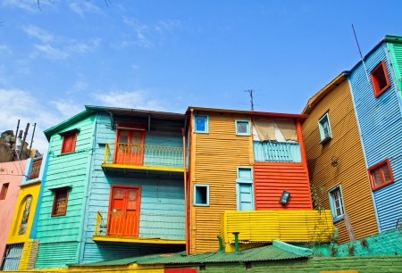 The colourful buildings of La Boca Stock Photo