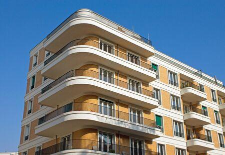 residential market: Modern apartment house