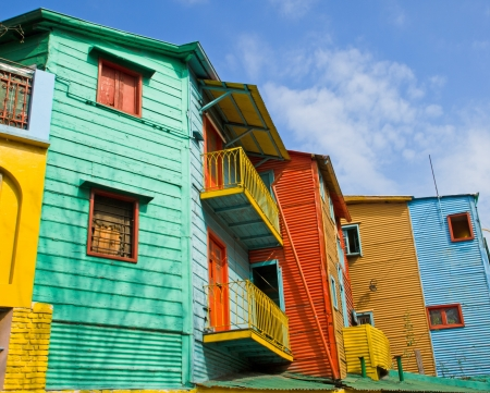 la boca: Colourful buildings in La Boca Stock Photo