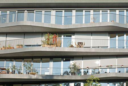 Facade of some modern apartments