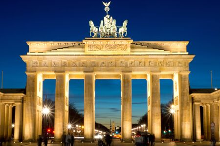 The famous Brandenburger Tor in Berlin at dawn Stock Photo - 12617242