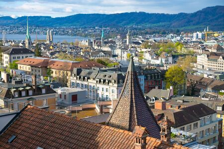 Zurich in the morning Imagens - 13562863