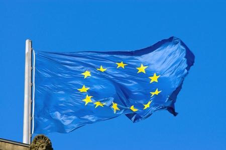 European flag 版權商用圖片