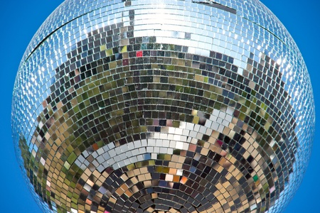 Disco ball hanging outdoors Stock Photo - 13909053