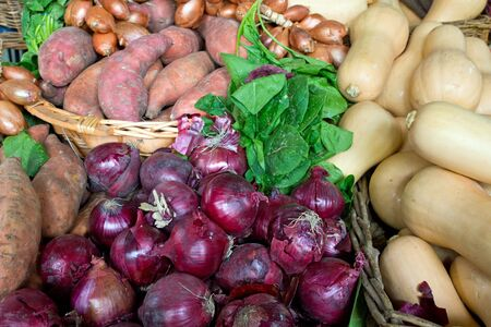 Selection of vegetables at a market Stock Photo - 13998741
