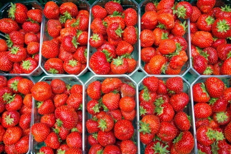 Strawberries for sale at a weekly market Stock Photo - 14384715