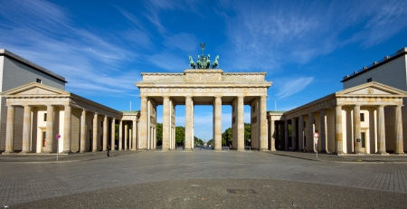 brandenburg gate: Panorama of the Brandenburger Tor