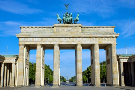 The Brandenburger Tor in Berlin Imagens - 14588180