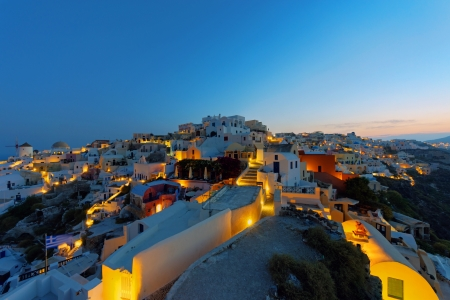 Oia at sunrise photo