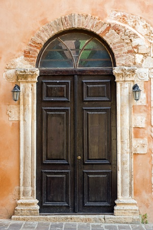 Church door in Chania photo