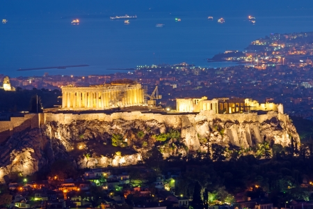 The Acropolis at night photo