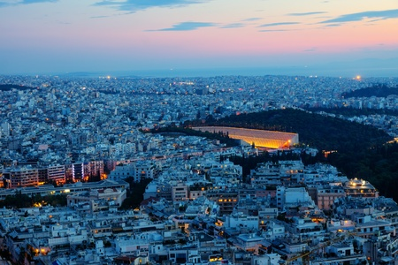 Athens with the old stadium Stock Photo