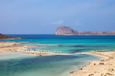 Beautiful beach on Crete island photo