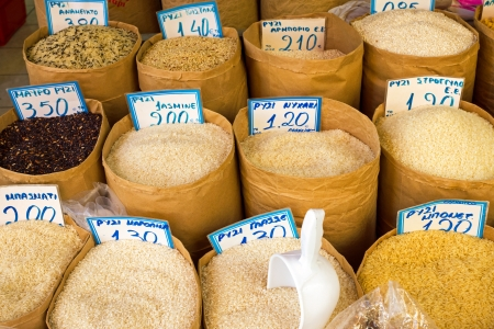 Different kinds of rice  Imagens