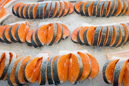 Fresh slices of salmon Imagens - 17091710