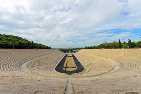 Der alte Panathenaic Stadion in Athen