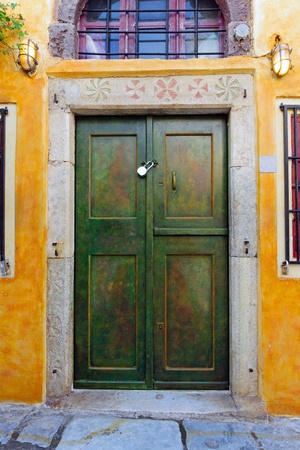 Entrance door to an old building Stock Photo - 17247445