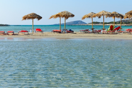sunshades: Beach with sunshades
