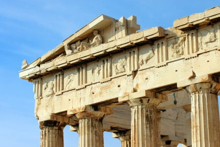 Detail of the Parthenon in Athen photo