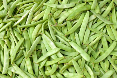 Green beans on a market photo