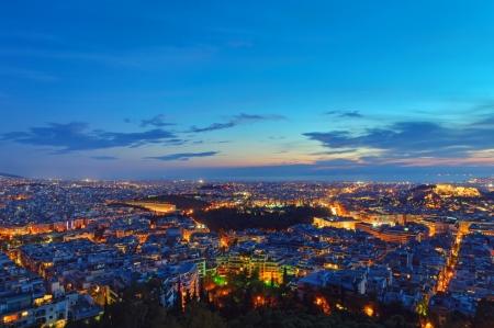 Athens im Morgengrauen Standard-Bild