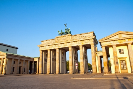 Brandenburg Gate in the morning