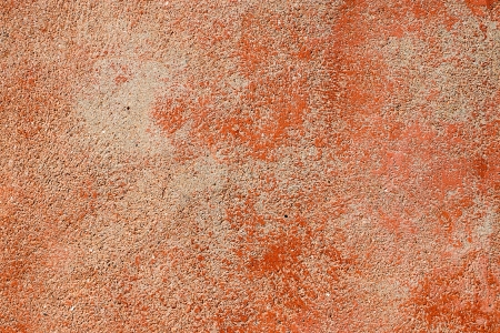 Red worn plaster photo