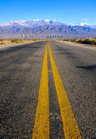 Weg in de provincie Salta Stockfoto