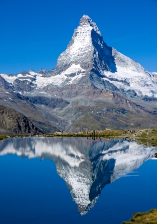 De Matterhorn in Zwitserland Stockfoto