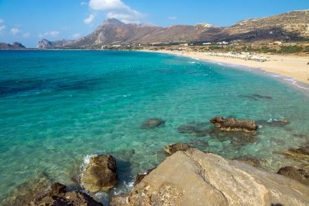 Lovely beach on Crete island Imagens