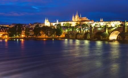 Prague at night photo