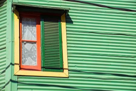 Window in La Boca, Buenos Aires photo