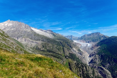 aletsch: Beautiful scenery with the Aletsch glaciar