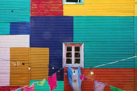 Typical wall in La Boca Imagens - 22930971