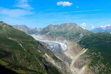aletsch: The impressing Aletsch glacier in the swiss alps
