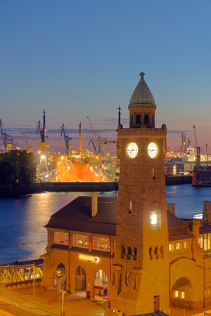 Part of the harbour in Hamburg