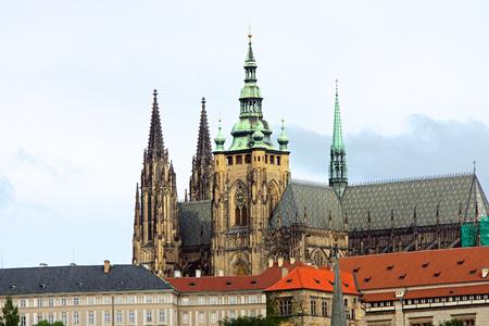 vitus: The Saint Vitus cathedral in Prague Stock Photo