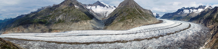 aletsch: Panorama of the Aletsch glacier