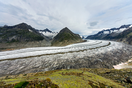 aletsch: The great Aletsch glacier Stock Photo