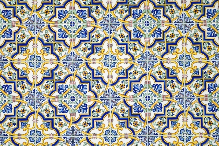 Typical andalusian tiled wall photo